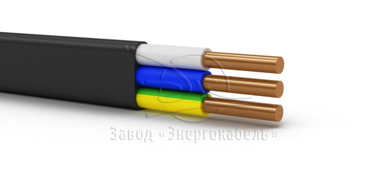 Power cables with plastic insulation, flame retardant at group installation with low smoke- and gas emission